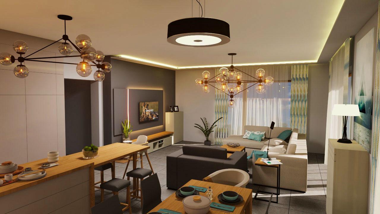 Hatalmas konyha, kényelmes nappalival - Megyeri Éva - lakberendező ...
